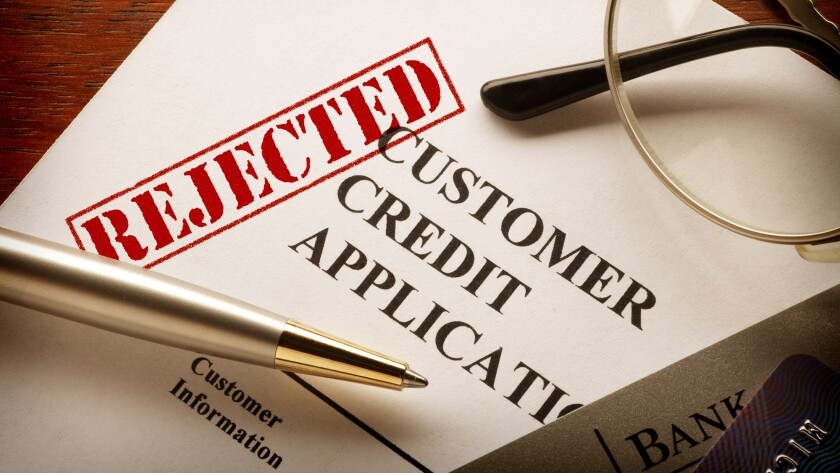 There are several different credit scores, which are compiled in different ways. If you're rejected for credit, you may want to check which score was used and how it's put together.