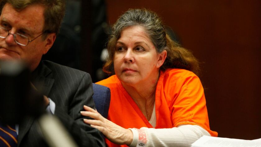 LOS ANGELES, CA., APRIL 10, 2014: Former Bell assistant city manager Angela Spaccia in Los Angeles