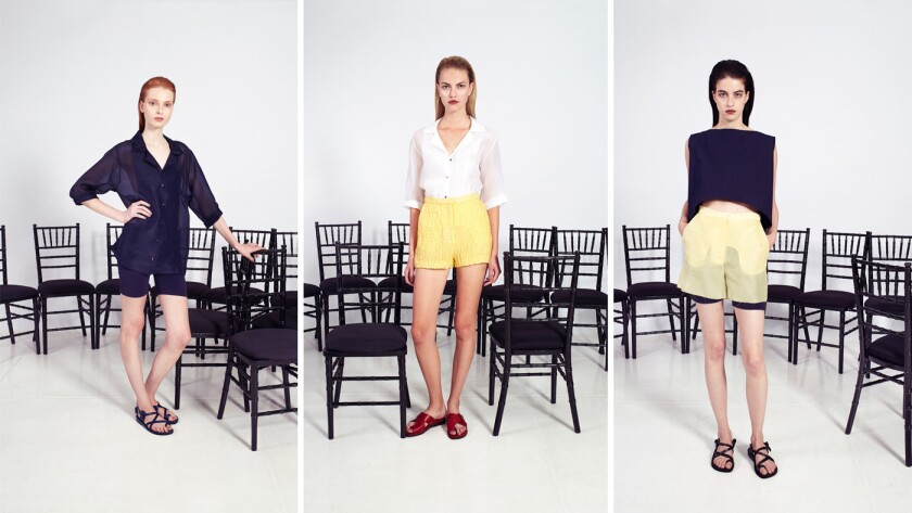 Looks from John Patrick, creator of the clothing line Organic by John Patrick, SS15 new collection.