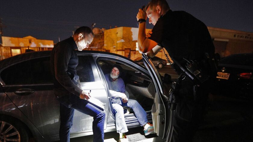 James Rook, who reported he had been homeless since 2005, was interviewed in 2018 by Chris Walheim, with assistance from Glendale Police Officer Steve Koszis, during last year's annual homeless count in Glendale.