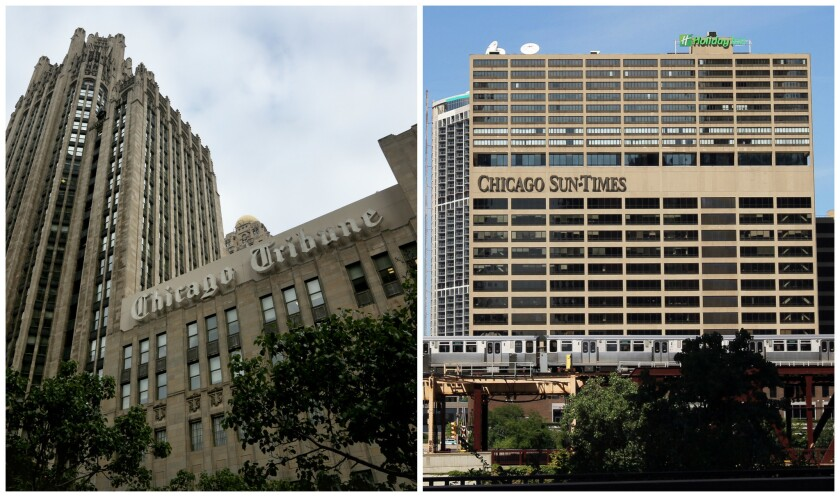 Tronc, owner of the Chicago Tribune, has entered into a nonbinding letter of intent to buy the Chicago Sun-Times.