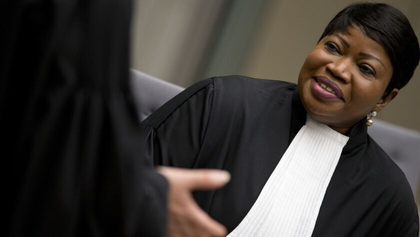 Chief prosecutor Fatou Bensouda, shown at the International Criminal Court in The Hague this week, has had her U.S. visa revoked.