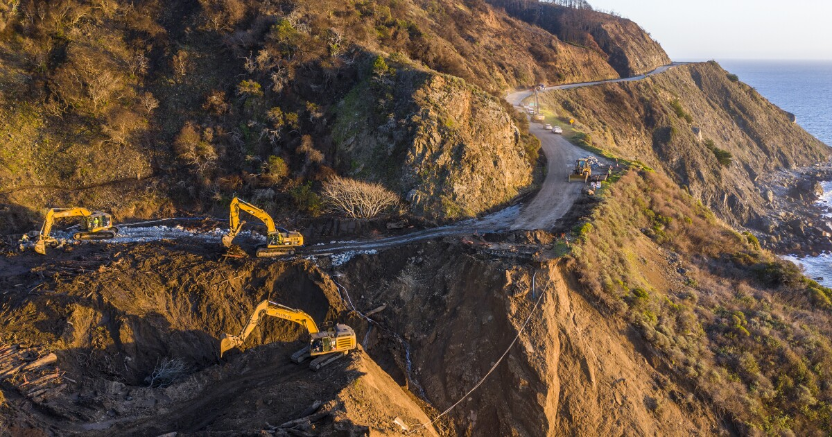 Highway 1 washout near Big Sur expected to be fixed by summer