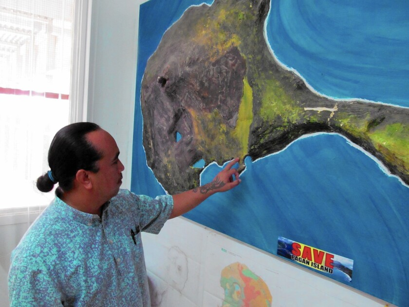 """""""We love our island. We don't want to give it up,"""" says Jerome Aldan, the mayor of the Northern Mariana Islands. """"This proposal is going to turn it into a wasteland."""""""