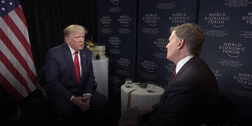 President Trump speaks with CNBC's Joe Kernen