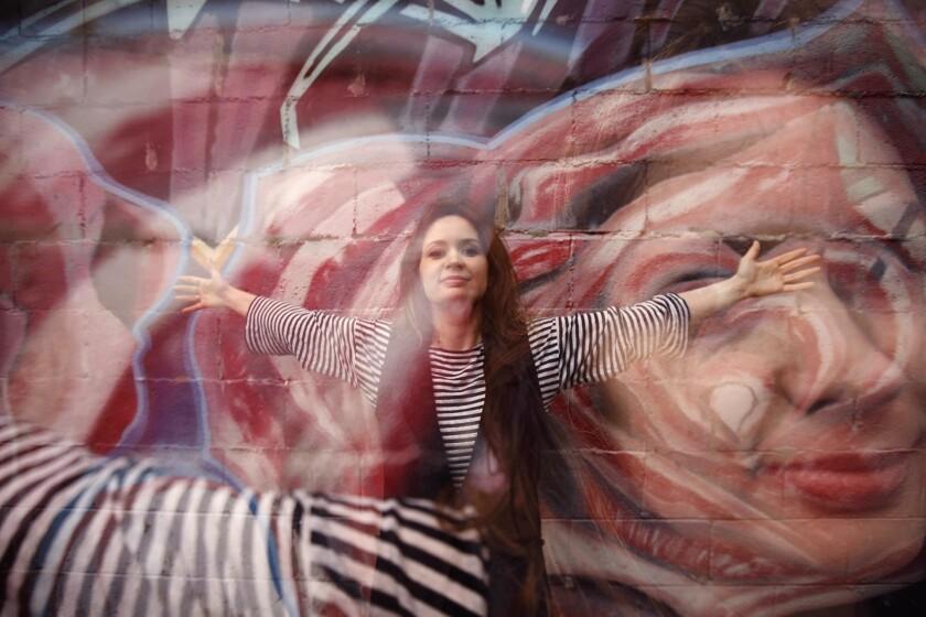 LOS ANGELES, CA - APRIL 30, 2018 - Violinist Patricia Kopatchinskaja takes flight as the music direc