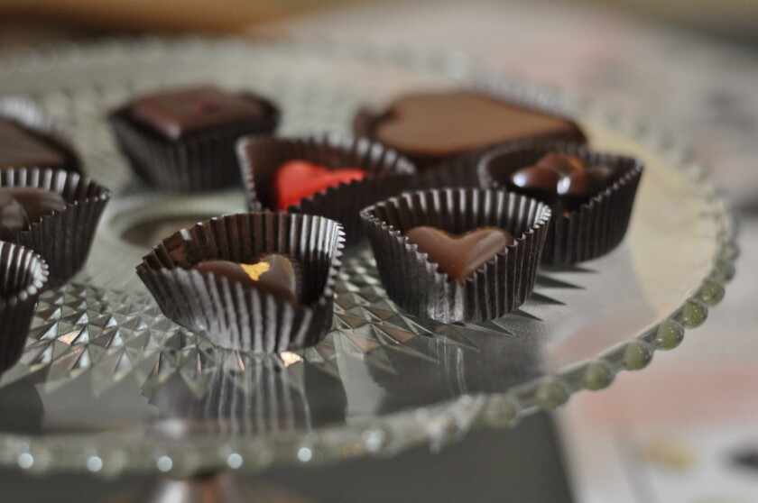 Valentine's Day chocolates from Valerie Confections.