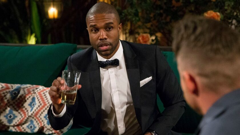 "DeMario Jackson in a scene from ""The Bachelorette,"" before he joined ""Bachelor in Paradise."""