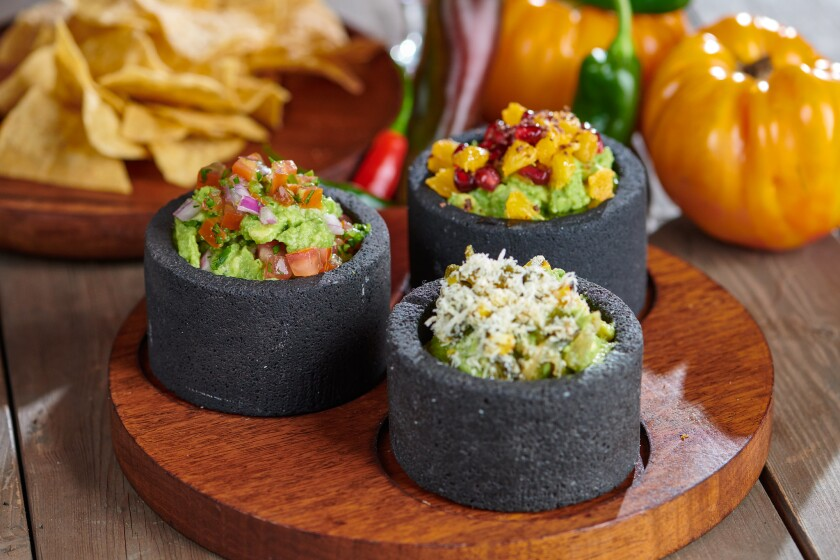 In a move away from the inventive cuisine of chef Claudette Zepeda and toward more accessible fare, El Jardín Cantina now focuses on such familiar items as guacamole. But while restaurant does serve the traditional avocado dip, it is also offering creative guacs like grilled rajas with corn and cotija cheese, and guacamole with pomegranate, citrus and grasshopper salt.