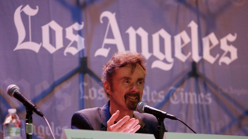T.C. Boyle at the 2015 Festival of Books. He was the recipient of the L.A. Times' Robert Kirsch Award for Lifetime Achievement