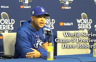 Dave Roberts on his World Series Game 5 lineup