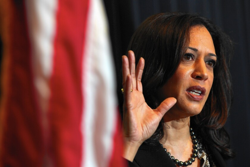 California Atty. Gen. Kamala D. Harris says her staff is developing a case against Volkswagen that is independent of the cases by other attorneys general.