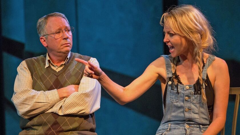 Carl J. Johnson, left, and Laura Liguori co-star in Open Fist Theatre's staging of Murray Mednickâ