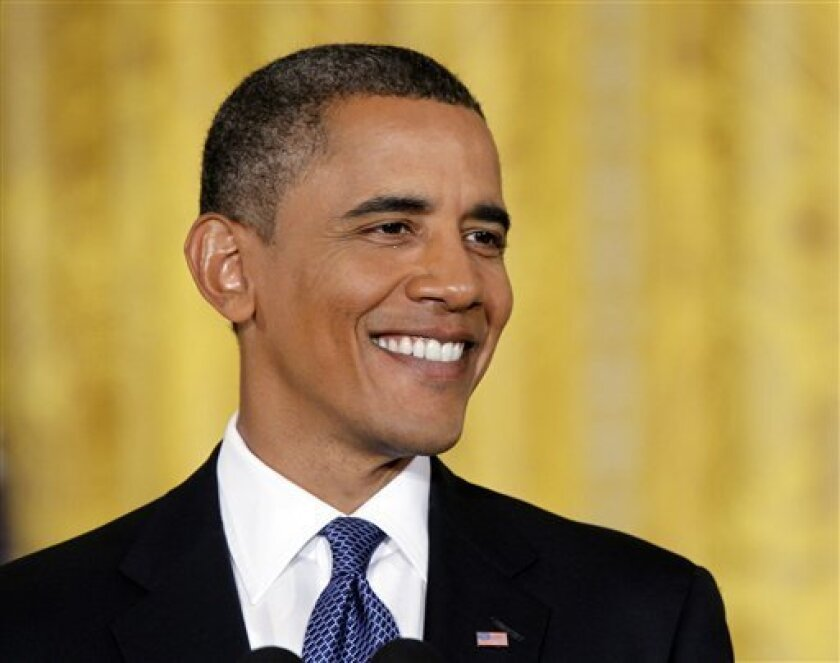 President Barack Obama smiles during his news conference in the East Room of the White House, Friday, Sept., 10, 2010.(AP Photo/Pablo Martinez Monsivais)