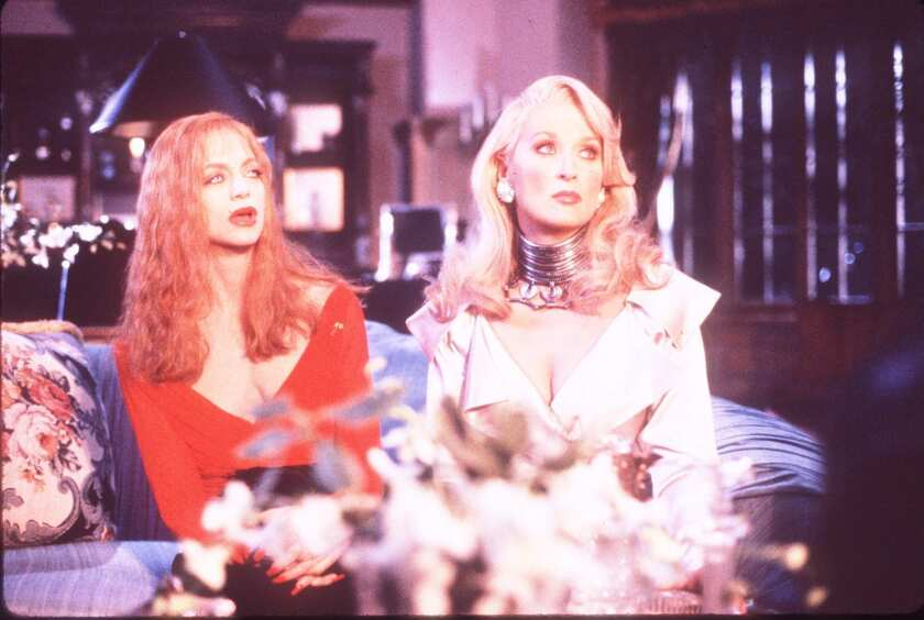 """Goldie Hawn, left, and Meryl Streep in """"Death Becomes Her."""""""