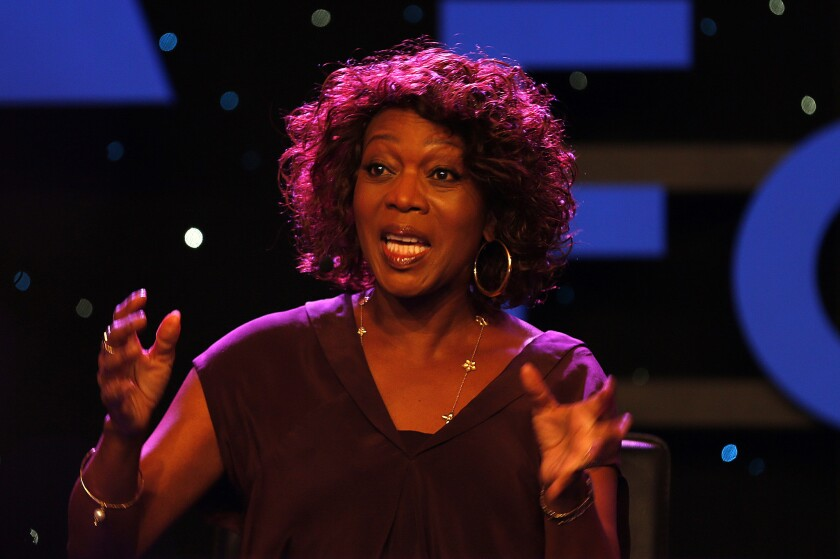 """Actress Alfre Woodard, speaking at the 2015 NAMM show in Anaheim at a panel on the Turnaround Arts program for underperforming schools, said, """"Art and music and theater help you learn what it is to be human."""""""