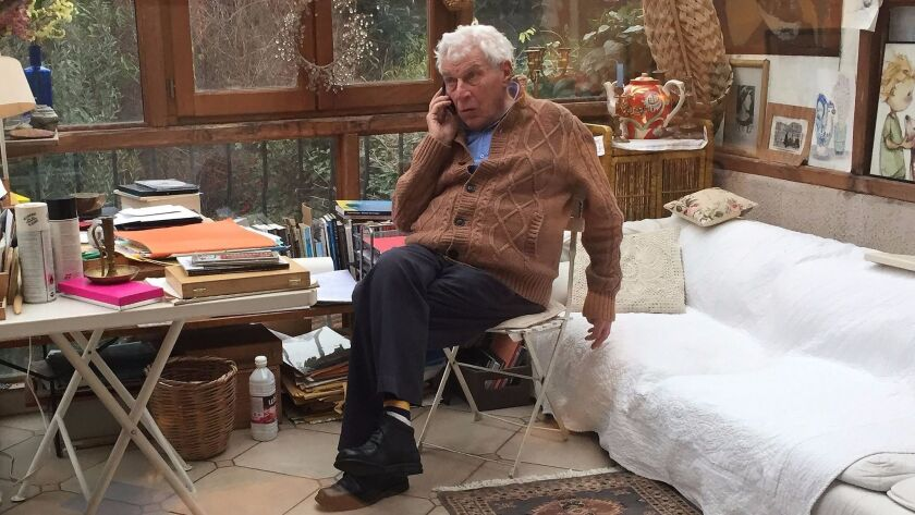 The late British art critic and prize-winning author John Berger at home in Paris in January 2016.