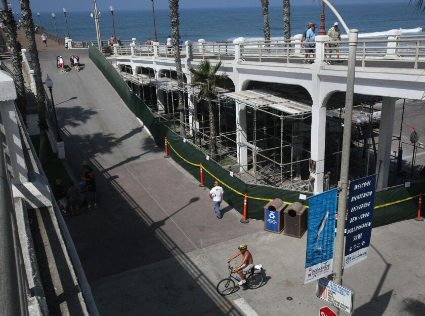The concrete base of the Oceanside pier is a problem. The City of Oceanside is studying what to do about much needed repairs for the concrete structure that supports the pier. At the very least, it needs substantial retrofitting because of its age but some say the structure may need to be removed c