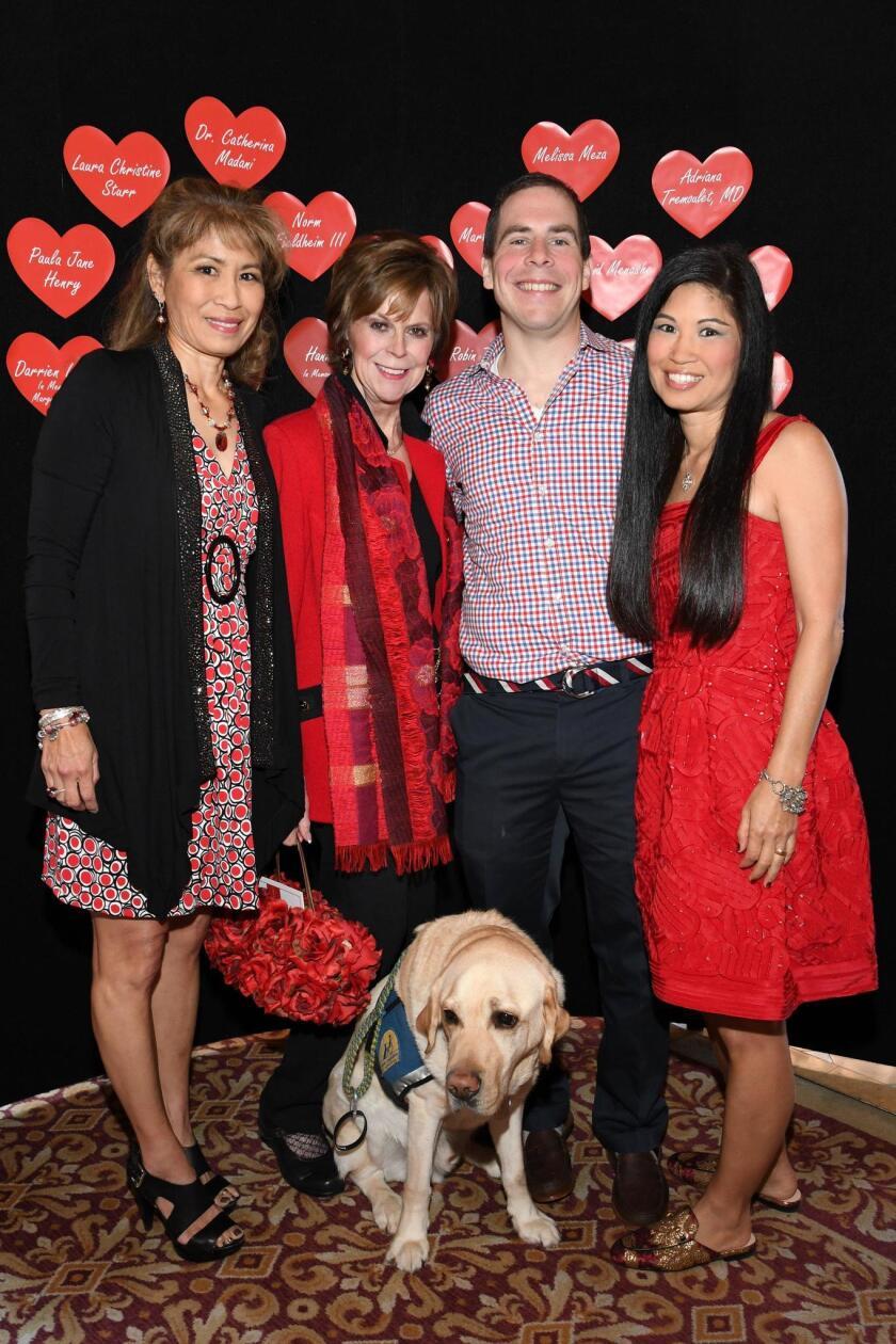 Betty Walker, Cindy Furlong, Potter (service dog) and Billy Lister, Lori Walton (Legendary Woman of the Heart)
