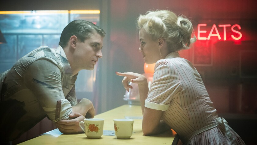 Max Irons as Alfred and Margot Robbie as Annie in the thriller ͞TERMINAL͟ an RLJE F