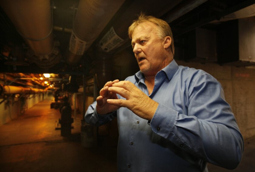David Huntamer is the senior operations supervisor at the Point Loma Wastewater Treatment Plant, where upgrades would cost billions of dollars. / photo by Peggie Peattie * U-T San Diego