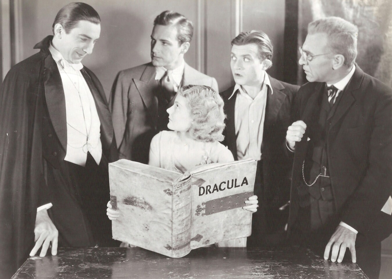 """Bela Lugosi, David Manners, Helen Chandler, Dwight Frye and Edward Van Sloan in """"Dracula."""" Boris Karloff, Bela Lugosi, Lon Chaney and Lon Chaney Jr. are among the iconic figures of the Universal horror films of the 1920s-1940s. But these films were also filled with a stock company of character actors -- Oscar-nominated stage actors, ingenues and even a tiny Russian actress, who was taught her craft by Stanislavsky -- who helped bring these classic films to terrifying life. With the release of """"Universal Classic Monsters: The Essential Collection"""" on Blu-ray and the Academy of Motion Picture Arts and Sciences' """"Universal's Legacy of Horror"""" film series this month, it seemed the right time to pay tribute to these often unsung heroes of the genre. Full story: Universal horror: 'Essential' Blu-ray spotlights classic actors"""