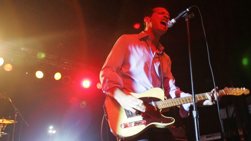 9/20/2008 San Diego California. At Street Scene downtown where four sta John Reis of the band Night