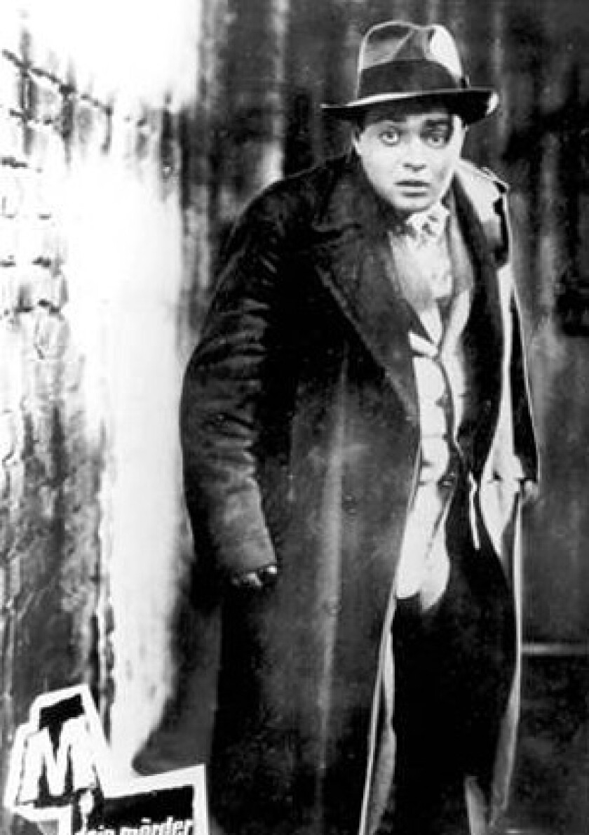 "Peter Lorre stars in ""M."""