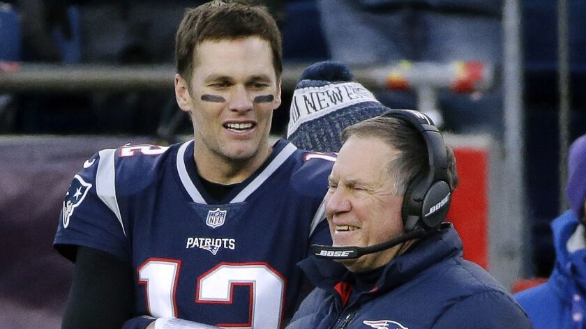 Patriots quarterback Tom Brady and coach Bill Belichick are nearly unbeatable in the playoffs at home.
