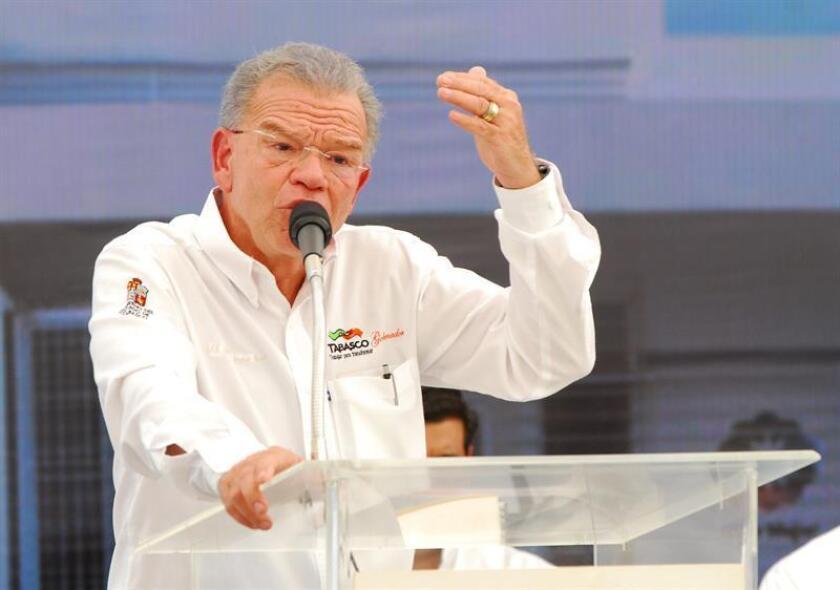 Fotografía de archivo del 10 de noviembre de 2011, en donde aparece el exgobernador de Tabasco Andrés Granier. EFE/Archivo