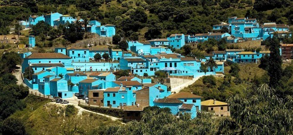 "Sony Pictures Animation and Columbia Pictures chose Juzcar, Spain, to host the world premiere of ""The Smurfs,"" painting the town blue to turn it into the world's first Smurf village."