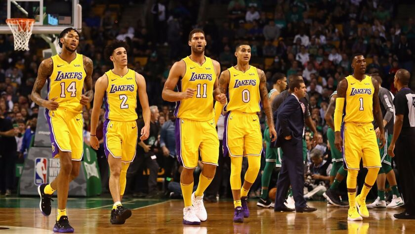 The Lakers had a tough night against the Celtics.