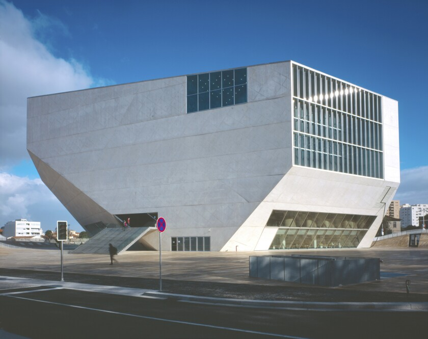 Casa De Musica in Porto, Portugal, designed by architect Rem Koolhaas.