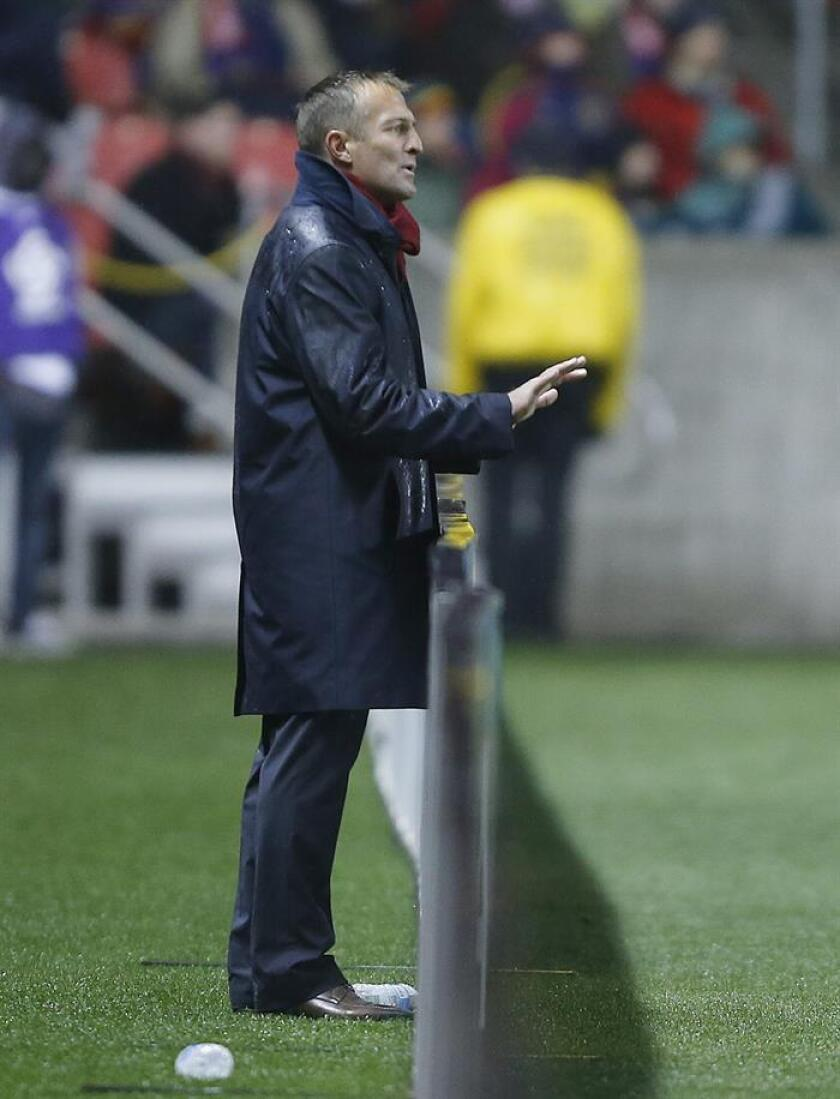 En la imagen, el entrenador Jason Kreis. EFE/Archivo