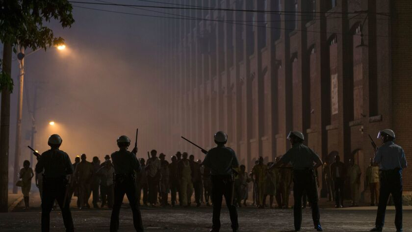 """A scene from the 1967 riots drama """"Detroit."""""""