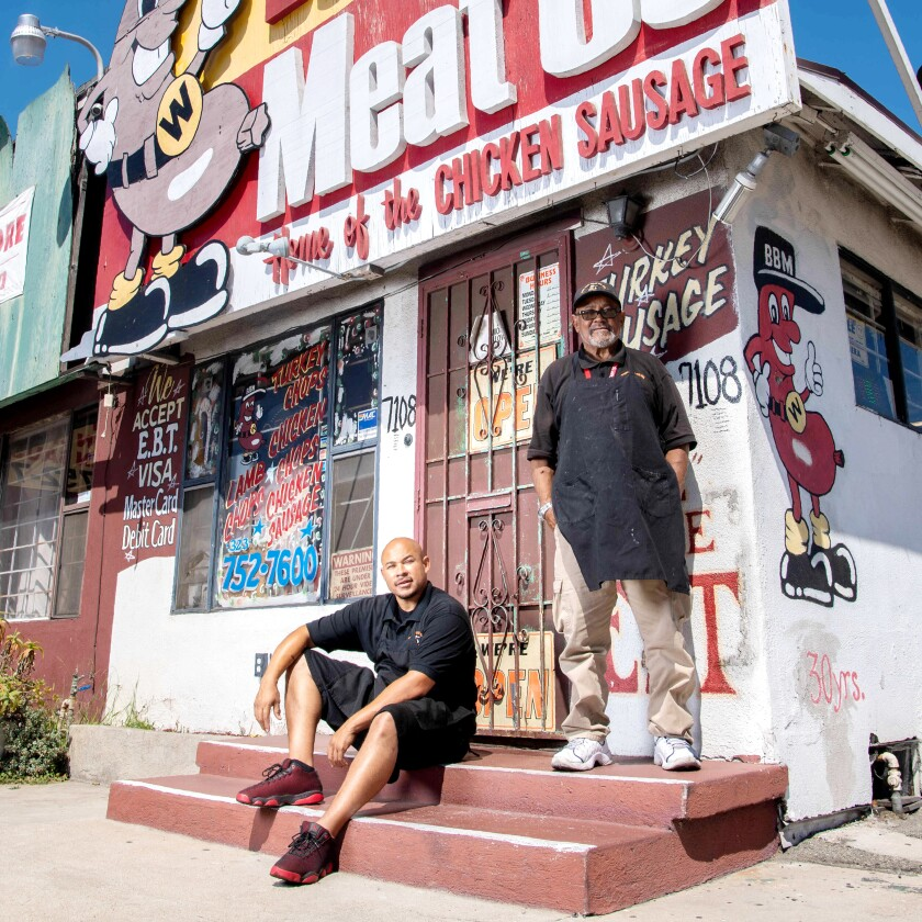 Walter Hart Jr. and Sr., the father-son duo behind Best Buy Meats in Hyde Park.