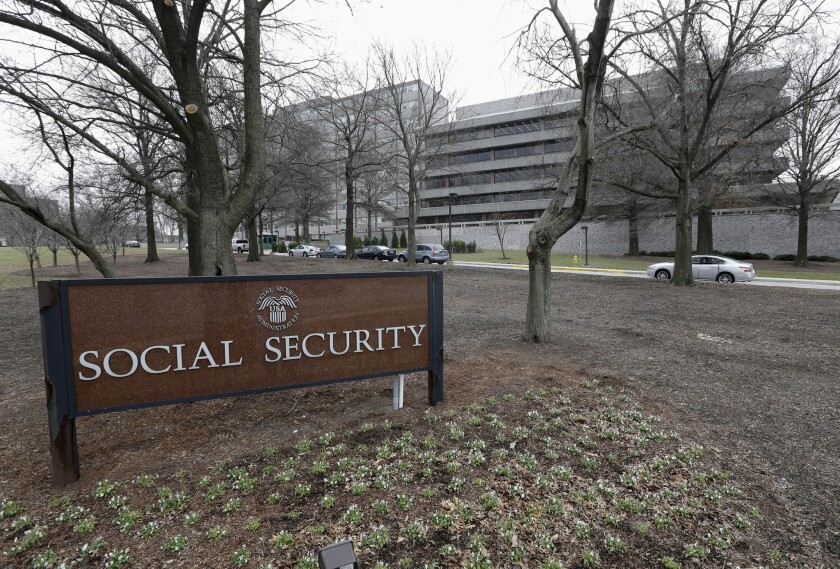 The Social Security Administration building in Woodlawn, Md.