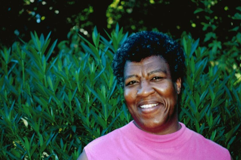 "This undated photo provided by the Octavia Butler estate shows author Octavia Butler. A pair of recently discovered early stories by prize-winning science fiction author Butler will be coming out as an e-book in June 2014. Open Road Integrated Media, a digital publisher, announced Tuesday, April 29, 2014, that ""A Necessary Being"" and ""Childfinder"" will be compiled in a single volume titled ""Unexpected Stories"" and will be released June 24. The book will include an introduction by Walter Mosley. (AP Photo/Octavia Butler Estate)"