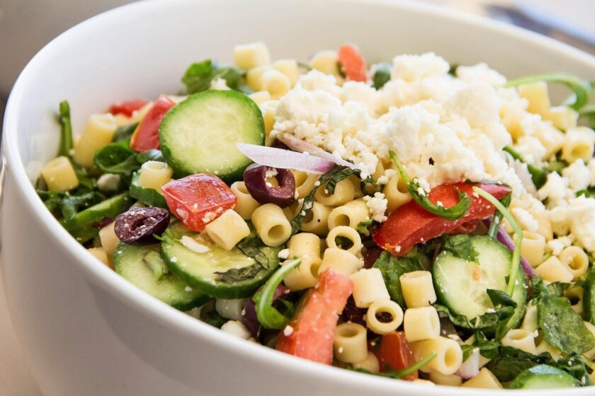 Sammy's Athenian Pasta Salad, from the new catering menu at Sammy's Woodfired Pizza.