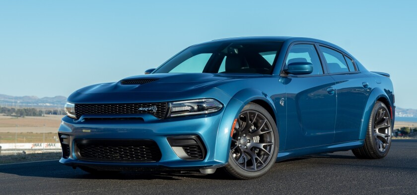 There are two choices of Charger SRT Hellcat Widebody, with pricing of $71,140 or $75,635 for the 717-hp Daytona edition.