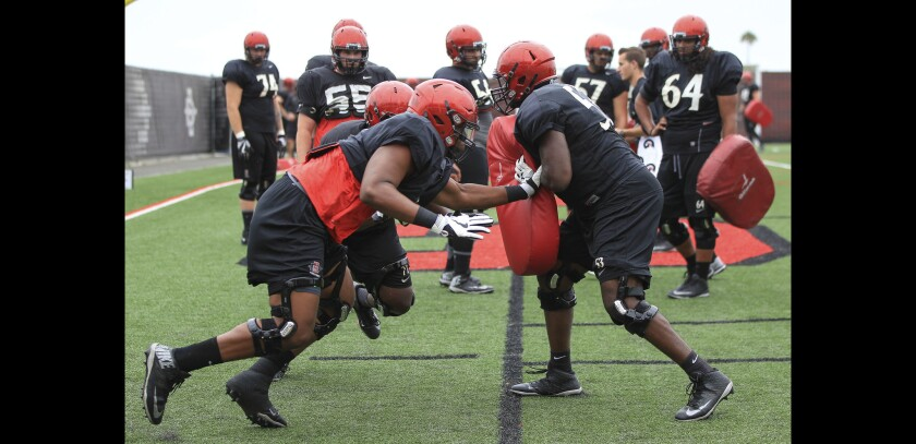 San Diego State is hoping to get back on the practice field for a real practice within the next two weeks.