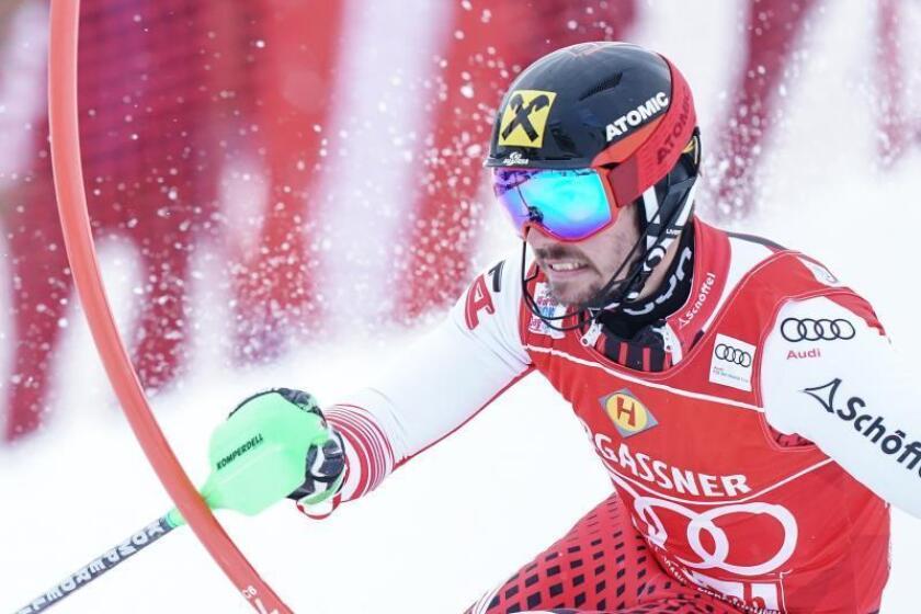 El esquiador Marcel Hirscher durante la última FIS Alpine Skiing World Cup en Saalbach Hinterglemm, Austria. EFE/Archivo