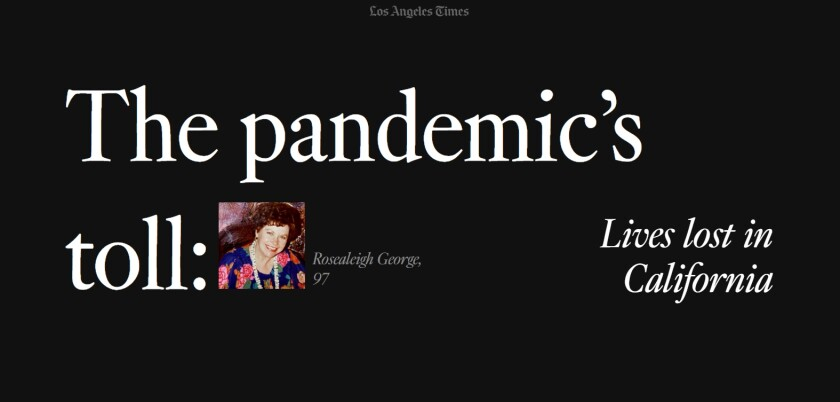 LA Times: The Pandemic's Toll project