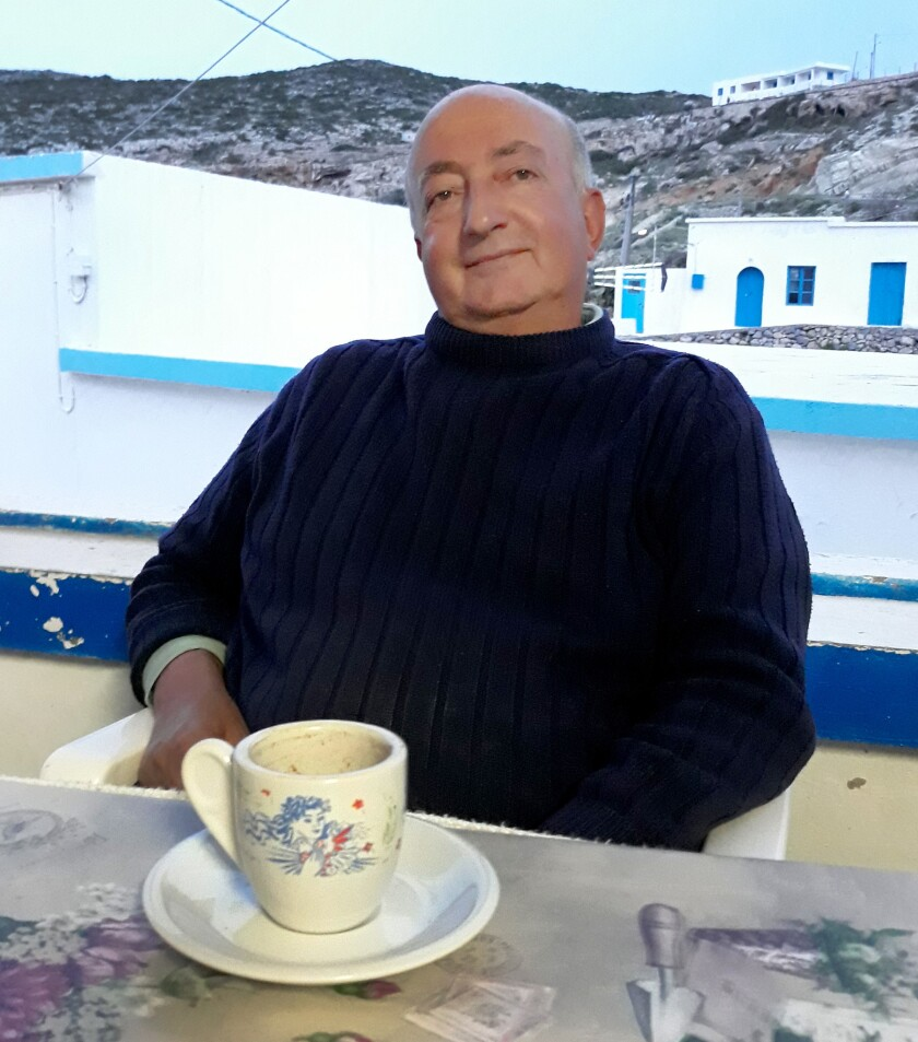 """We are an island of pensioners, old men, not children,"" says 62-year-old Vassilis Aloizos, a na"