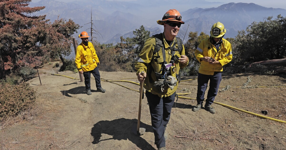 '300-foot flames coming at us': The battle to save Mt. Wilson from the Bobcat fire