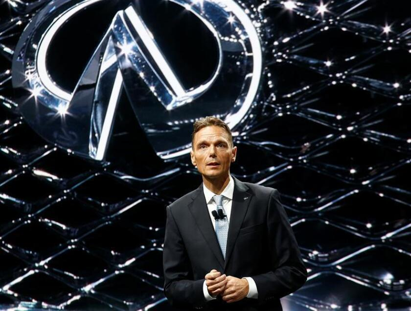 Infiniti, la marca de vehículos de la gama alta de Nissan, anunció hoy que producirá cinco nuevos vehículos en China en los próximos cinco años y que el primero será el todocaminos SUV QX50. El presidente de Infiniti Motor Company, Roland Krueger. EFE/ARCHIVO