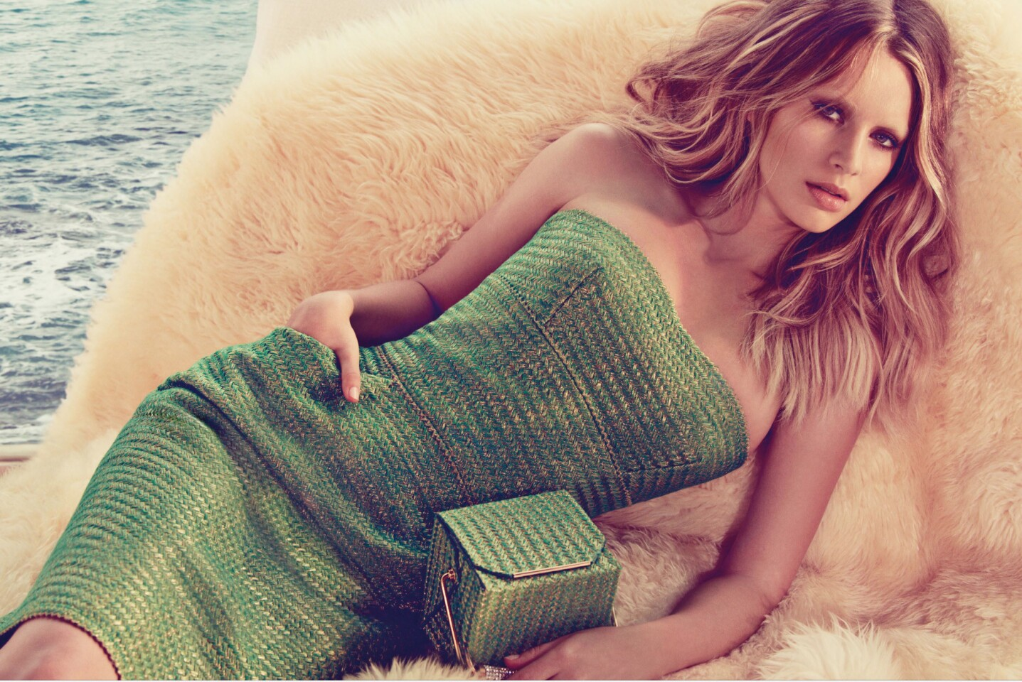 Ermanno Scervino campaign featuring Dylan Penn, daughter of Oscar winner Sean Penn and actress Robin Wright.