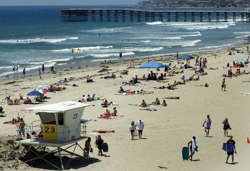 San Diego beach day