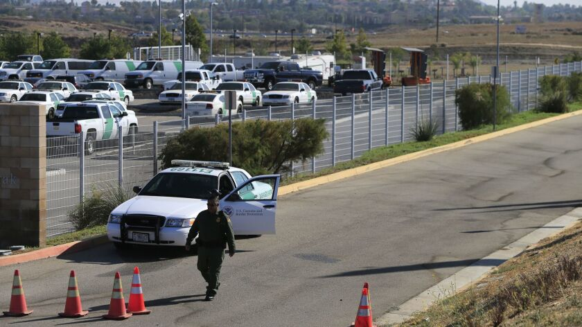 MURRIETA, CALIFORNIA, JULY 2, 2014: All is calm at the US Border Patrol in Murrieta on the morning a