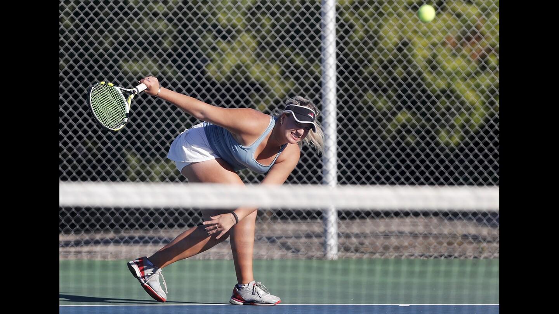 Photo Gallery: Corona del Mar vs. Palos Verdes Peninsula in girls' tennis